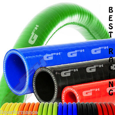 Silicon Pipe Coolant Radiator Rubber Silicone Reinforced Hose Size+Colours