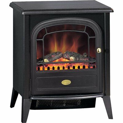 Dimplex Club 2kw Electric Fire Black Classic Stove Style with Remote Control