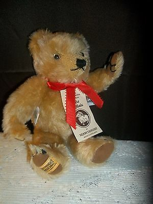 """Adorable 11"""" Merrythought Mohair Jointed Bear w/ Hang Tag Ex Cond Growler Ltd Ed"""