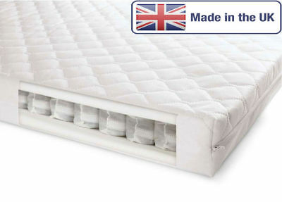 Mother care Cot Bed Pocket Sprung Quilted Nursery Mattress 140x70x11 & 120x60x11