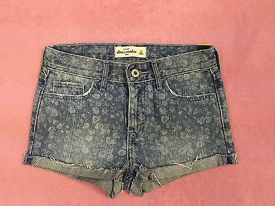 abercrombie KIDS girls HIGH RISE denim shorts -- size 12 years -- NWT