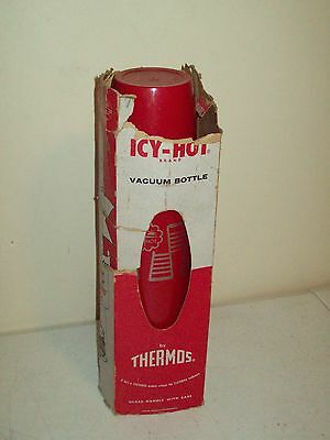 American Thermos Bottle Co. 1 quart no. 2410 Icy-Hot polly red top stopper w/box