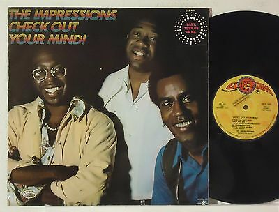 THE IMPRESSIONS : CHECK OUT YOUR MIND !   -  1970  LP  ITALY  (Curtis Mayfield)