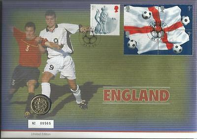 England Football 2002 limited edition coin PNC FDC Royal Mint Official cover C36