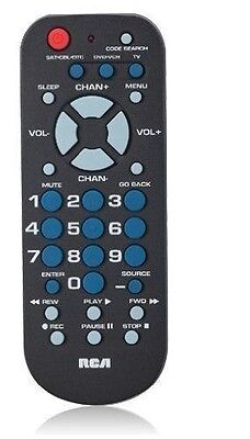 RCA Universal Remote Control for TV, VCR, DVD & Cable in Black
