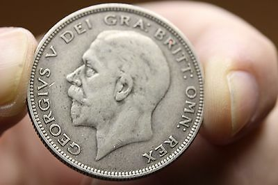 1936 Great Britain 1/2 Crown Silver  (821)