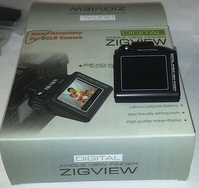 Zigview electronic digital view finder SC-V100 Nikon & Canon models check model