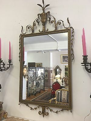 Spectacular ANTIQUE French Gold Gilt Mirror