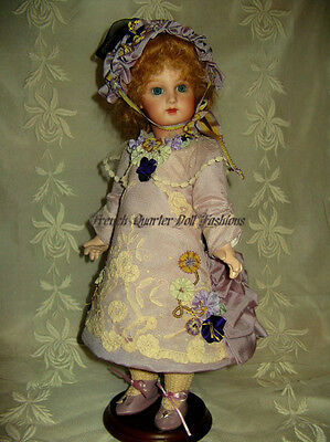 "14""  French Doll Dress Pattern Antique Style ~ Chantelle"