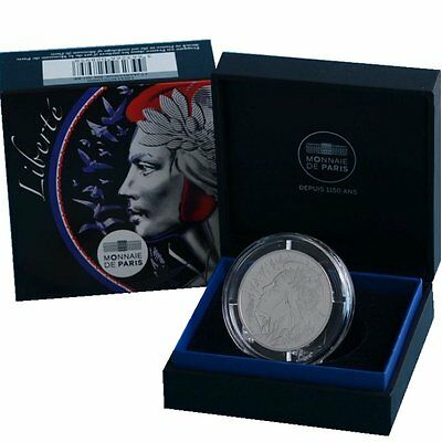 """2017 France 20 Euro Silver Proof Coin """"Marianne Trilogy - Liberty"""" Cert. # 1411"""