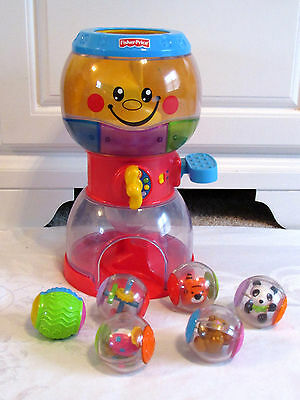 Fisher Price Roll a Rounds Swirlin Surprise Gumball Machine + 5 Gum Balls