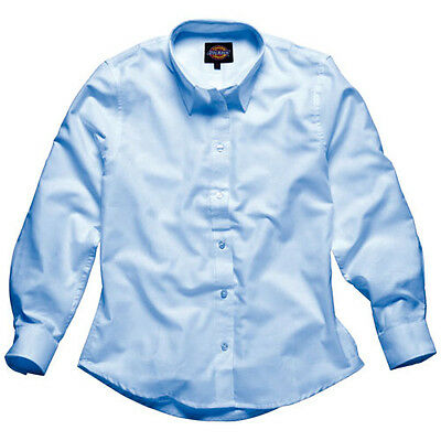 Dickies Mens Oxford Weave Short Sleeve Shirt Blue Size 16