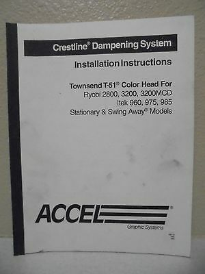 Crestline Dampening System Install Instructions Townsend T 51 Color Head Manual