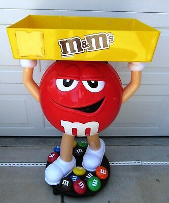 "Red M&m Store Display 42"" Tall On Wheels"