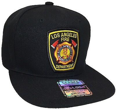 Los Angeles Fire Department LAFD Hat Black Snapback