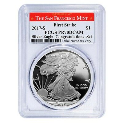 PRESALE - 2017-S 1 oz Proof Silver American Eagle PCGS PF 70 DCAM First Strike (