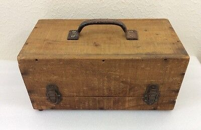 Antique Vintage Primitive Storage Handmade Wooden Box