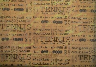 "12X12"" Vellum Tennis Words in Orange from It Takes Two 5 sheets"