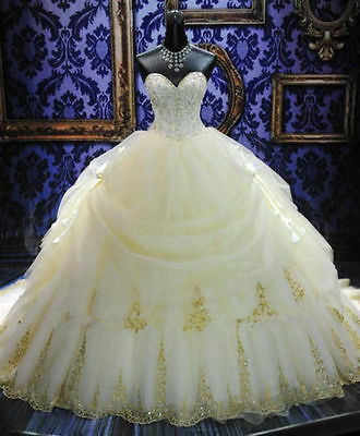 2017 New White/ivory Wedding dress Bridal Gown custom size 6-8-10-12-14-16-18++
