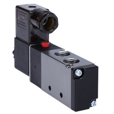 "1/4"" Pneumatic 4 Way 2 Position Directional Control Air Solenoid Valve 110V AC"