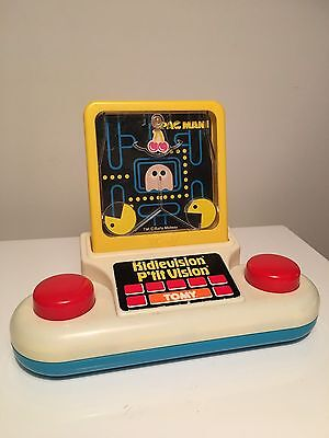 PAC-MAN KidieVision Handheld Game By Tomy - 1983 Tomytronics