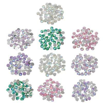 50pcs 12mm Mermaid Fishscale Style Flatback Resin Cabochons for Craft Making
