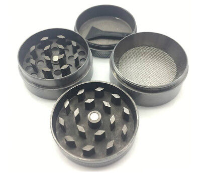 1PC 4 Piece Herb Grinder Spice Tobacco/Weed Smoke Zinc Alloy Crusher Leaf Design