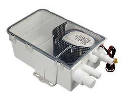 12V 750GPH SHOWER SUMP PUMP SYSTEM AUTO BILGE DRAIN BOX AIR VENT Boat RV-Seaflo