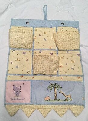Carters JOHN LENNON Crib,Nursery Organizer Diaper Caddy REAL LOVE IMAGINE 19x24""