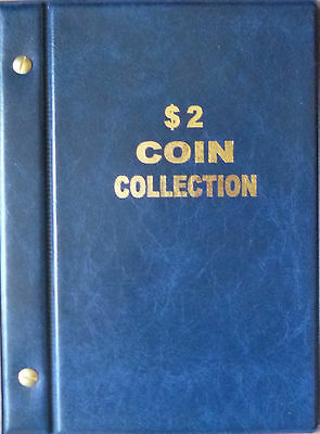 VST AUSTRALIAN $2 COIN ALBUM 1988 to 2018 MINTAGES PRINTED -  BLUE COLOUR