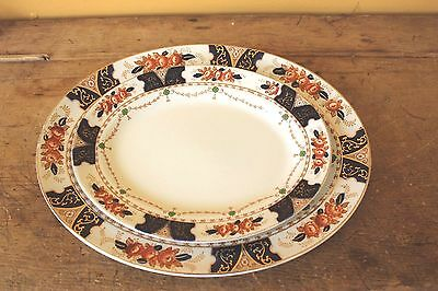 Antique Imari Wood & Sons Pair of Platters.