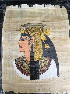 "New! Large Authentic Egyptian Papyrus Paper: QUEEN CLEOPATRA 17"" X 13"""