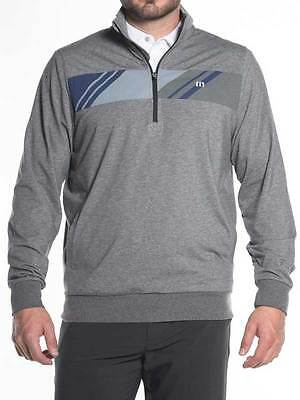 Travis Mathew Bergstrom 1/4 Zip Pullover - Heather Rock