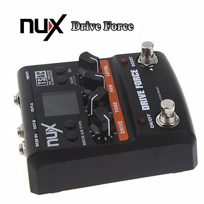 NUX Guitar Pedal Drive Force Modeling Stomp Simulator Electric Effect Pedal