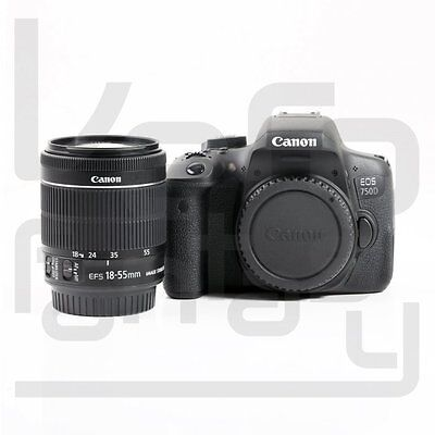 UK Canon EOS 750D DSLR Camera + EF-S 18-55mm f/3.5-5.6 IS STM Lens Kit