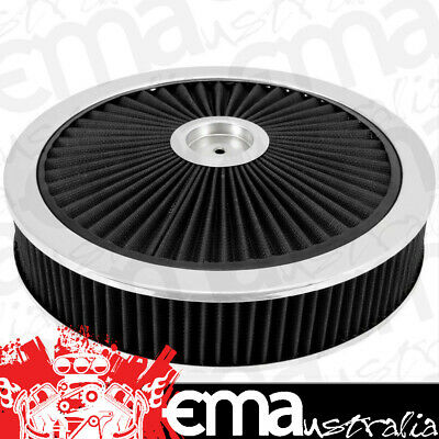 """EXTRAFLOW 45721 AIR FILTER ASSEMBLY 9"""" x 2"""" BLACK WASHABLE FILTER 5-1/8"""" NECK"""