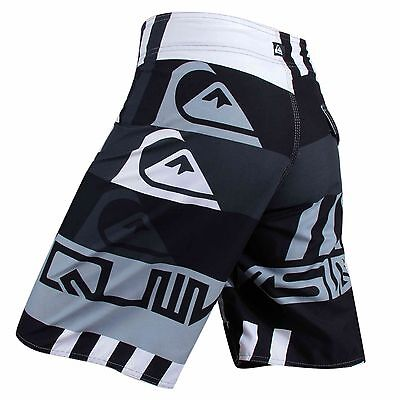Men's Quiksilver BoardShorts Quick-Dry Black, Grey & White Sizes: 30 - 38