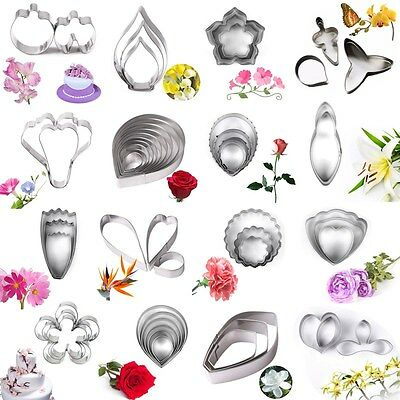 Stainless Steel Flower Leaf Biscuit Cookie Cutter Fondant Cake Decor Mold Tool
