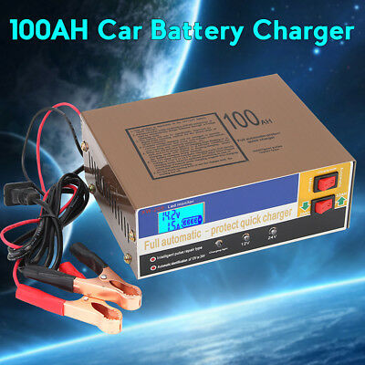 12V/24V 100AH Electric Auto Car Battery Charger Intellective Sphygmus Repair UK