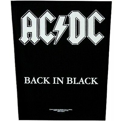 AC/DC Back In Black Back Patch XLG free worldwide shipping