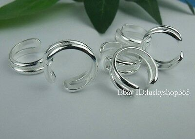New!!Wholesale lots 10pcs HQ 925 Silver Toe Ring