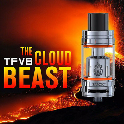 100% New SMOK TFV8 Cloud Beast Tank Stainless FULL KIT IN Stock