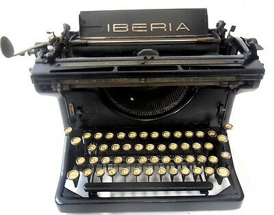 ►Antigua  maquina de escribir IBERIA rare spanish antique typewriter►