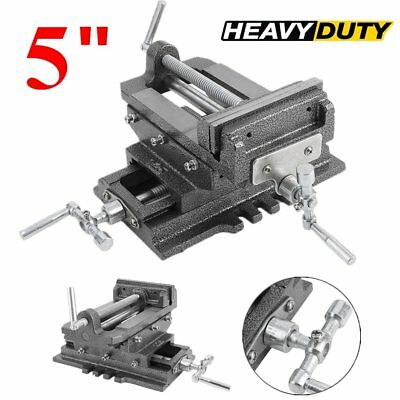 "Cross Slide Vise 5"" inch Wide Drill Press X - Y Clamp Milling Heavy Duty US SHIP"