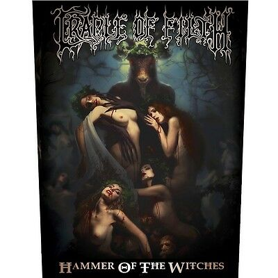 Cradle of filth hammer of the witches Back Patch XLG free worldwide shipping