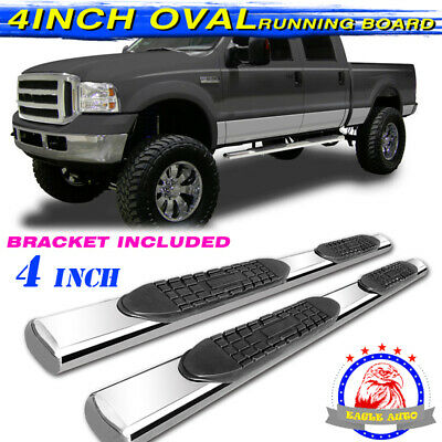 """For 07-20 Toyota Tundra Double Cab T4/"""" Nerf Bar Side Step Running Board BLK Oval"""