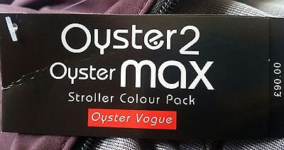 oyster2 oyster max stroller colour pack DAMSON