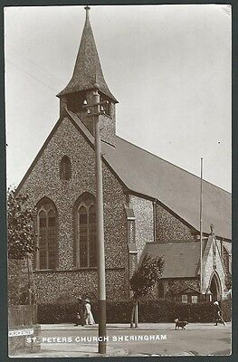 Sheringham Norfolk St. Peters Church 1914 Real Photo Postcard