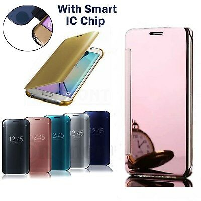 Luxury Flip Mirror Hard Smart Phone Case Cover For Samsung Galaxy S5 S6 S7 S8