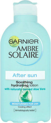 200ml Garnier Ambre Solaire Moisturises After Sun Soothing Hydrating Lotion NEW